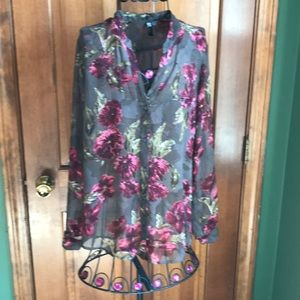 Kut from the Kloth Blouse Floral Sheer Medium